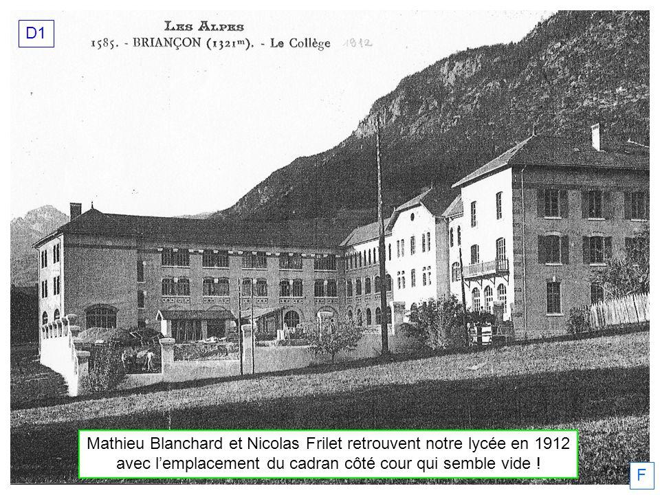 Mathieu Blanchard et Nicolas Frilet retrouvent notre lycée en 1912