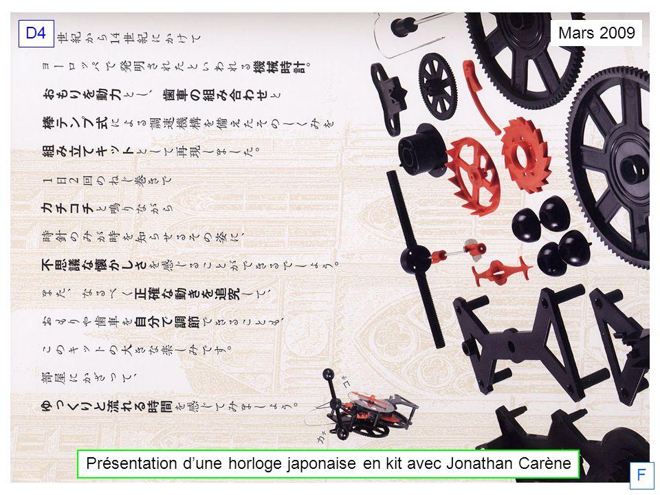 Présentation d'une horloge japonaise en kit avec Jonathan Carène