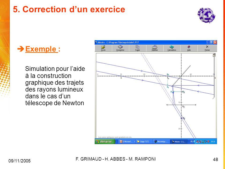 5. Correction d'un exercice