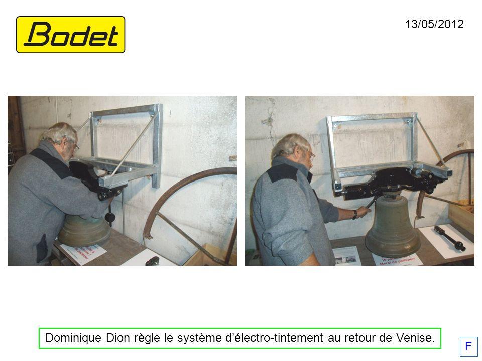 13/05/2012 Dominique Dion règle le système d'électro-tintement au retour de Venise. F
