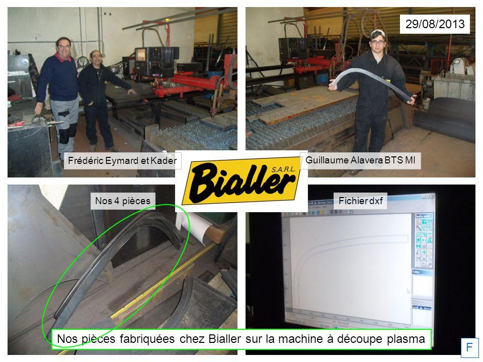 Nos pièces fabriquées chez Bialler sur la machine à découpe plasma F