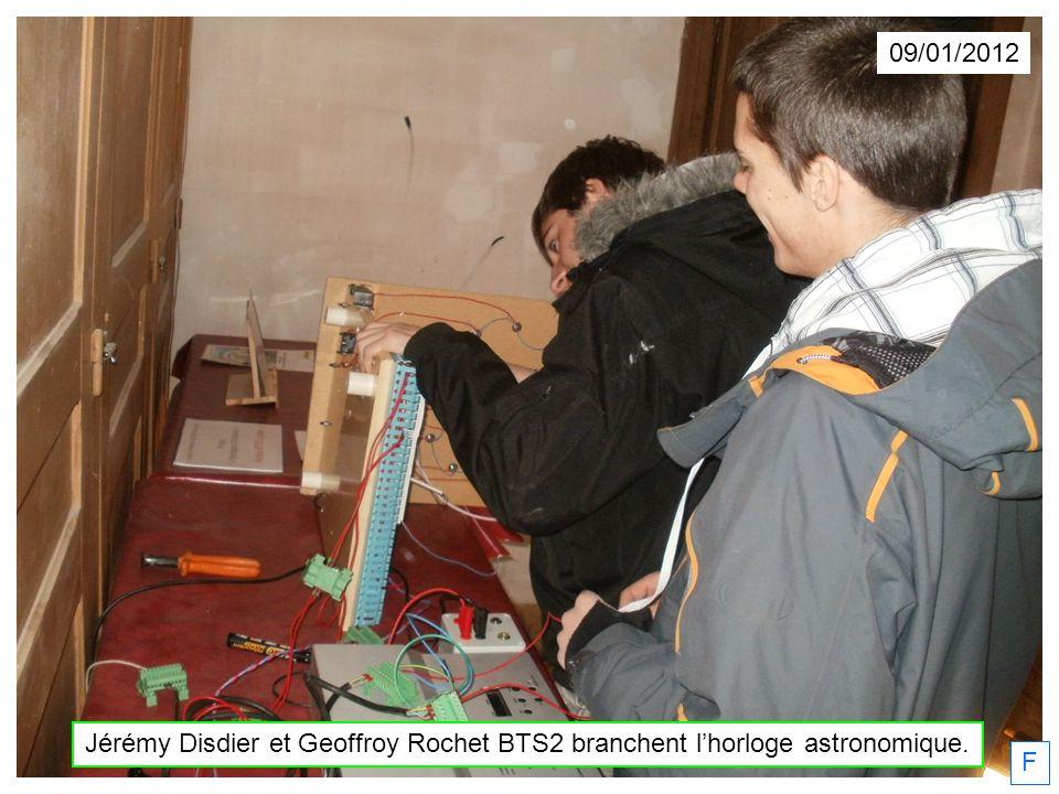 09/01/2012 Jérémy Disdier et Geoffroy Rochet BTS2 branchent l'horloge astronomique. F