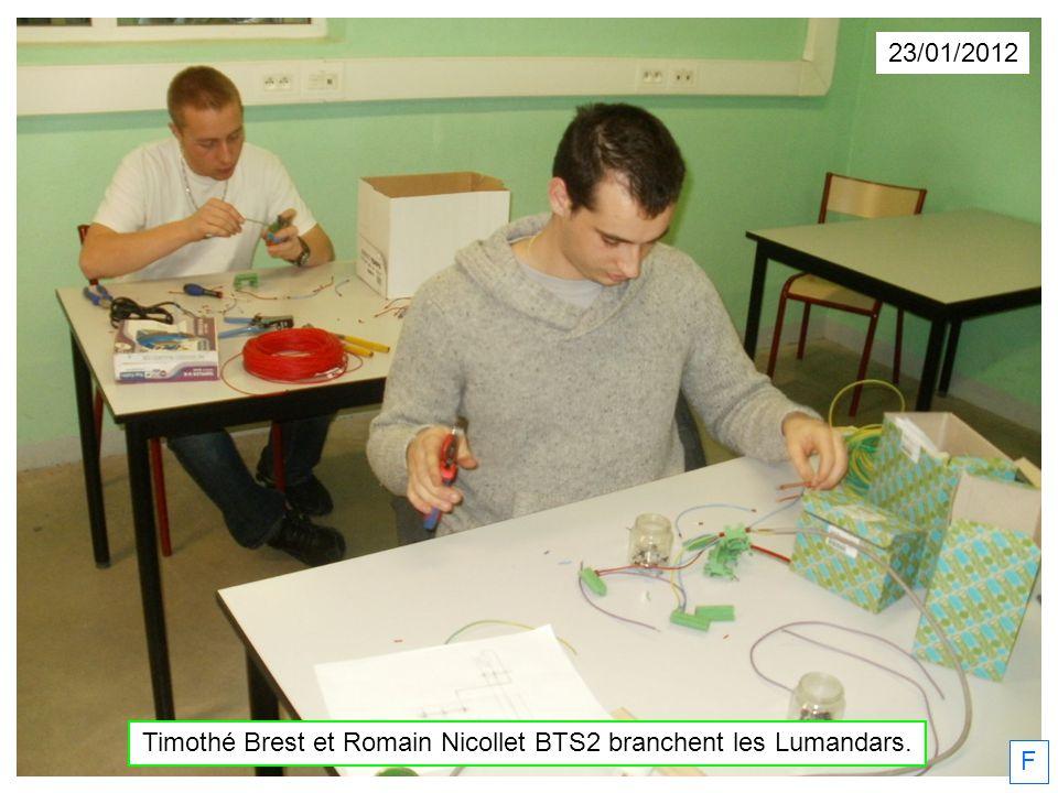 Timothé Brest et Romain Nicollet BTS2 branchent les Lumandars.