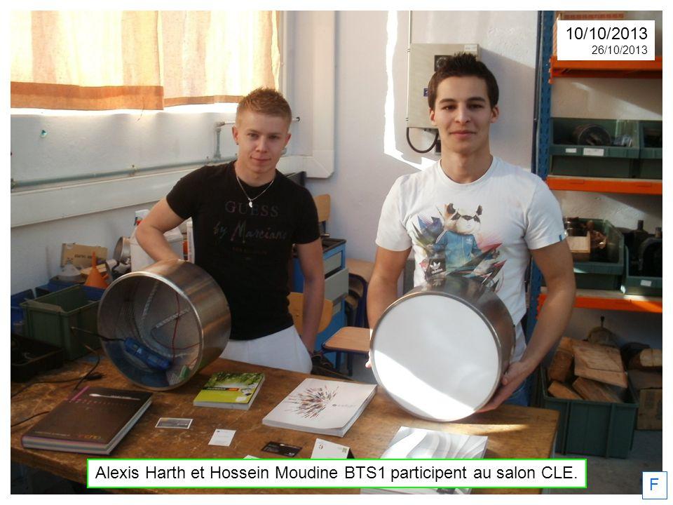 Alexis Harth et Hossein Moudine BTS1 participent au salon CLE.
