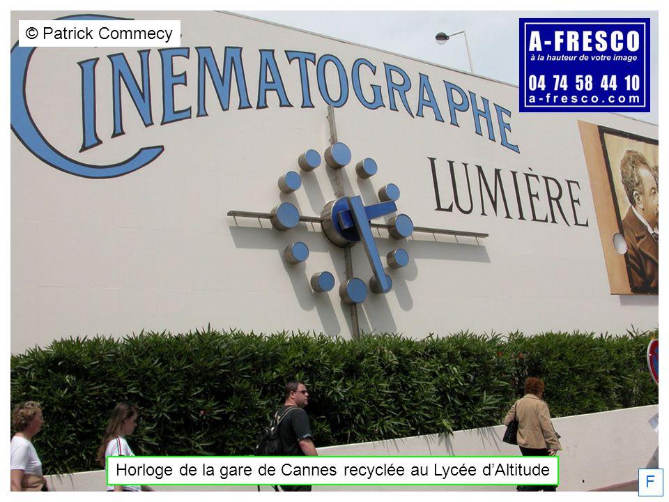 Horloge de la gare de Cannes recyclée au Lycée d'Altitude