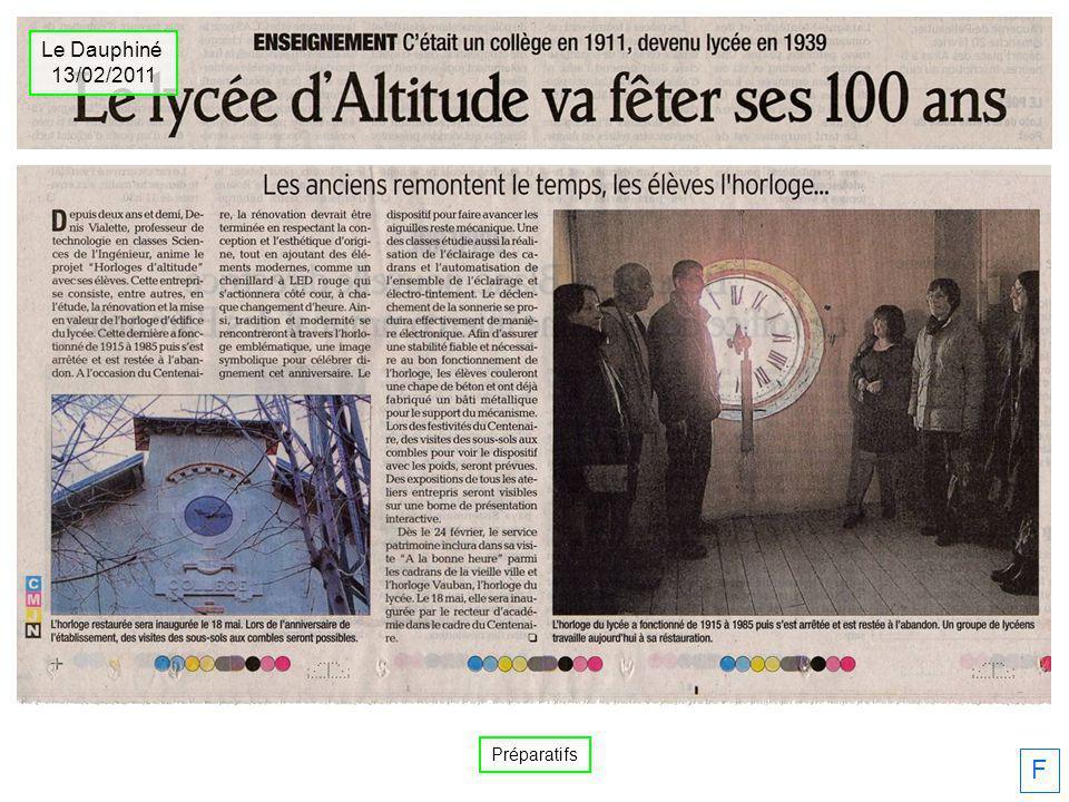 Le Dauphiné 13/02/2011 Préparatifs F