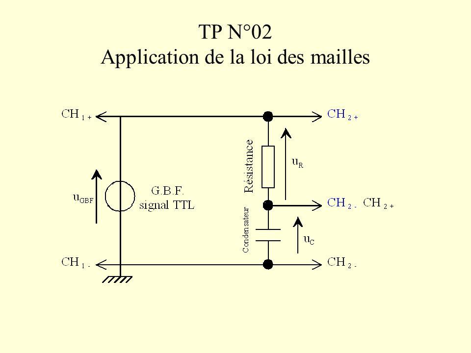 TP N°02 Application de la loi des mailles