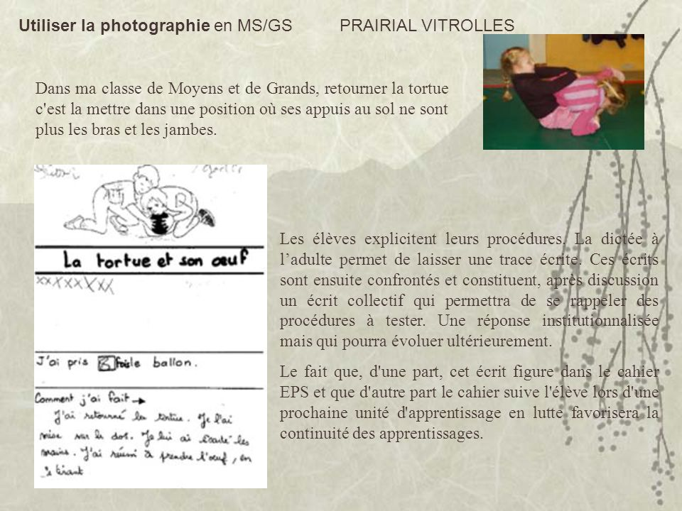Utiliser la photographie en MS/GS PRAIRIAL VITROLLES