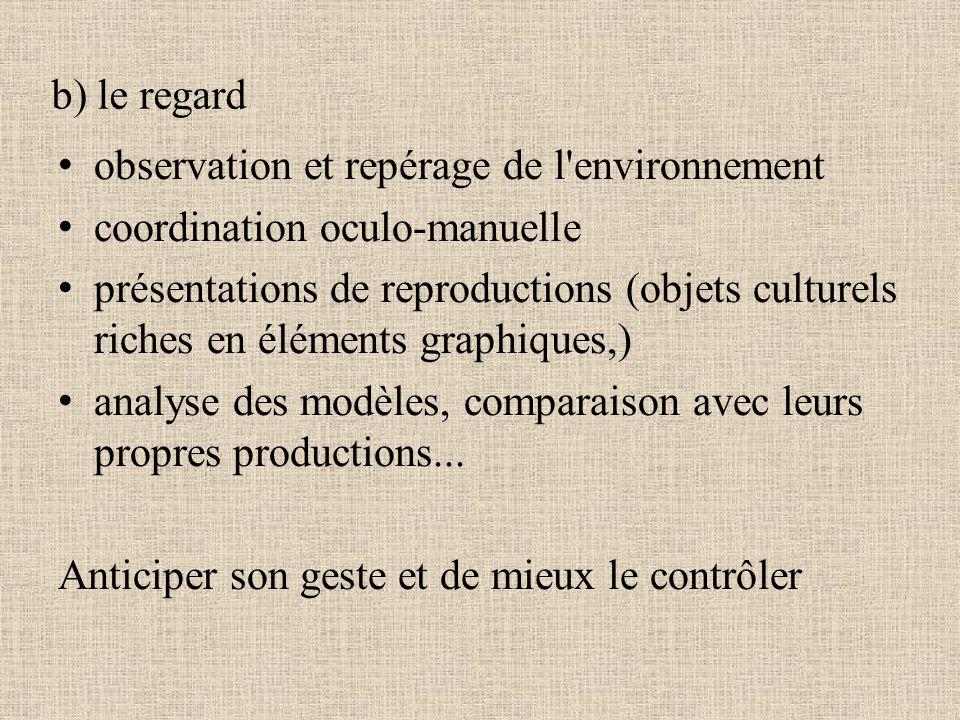 observation et repérage de l environnement coordination oculo-manuelle