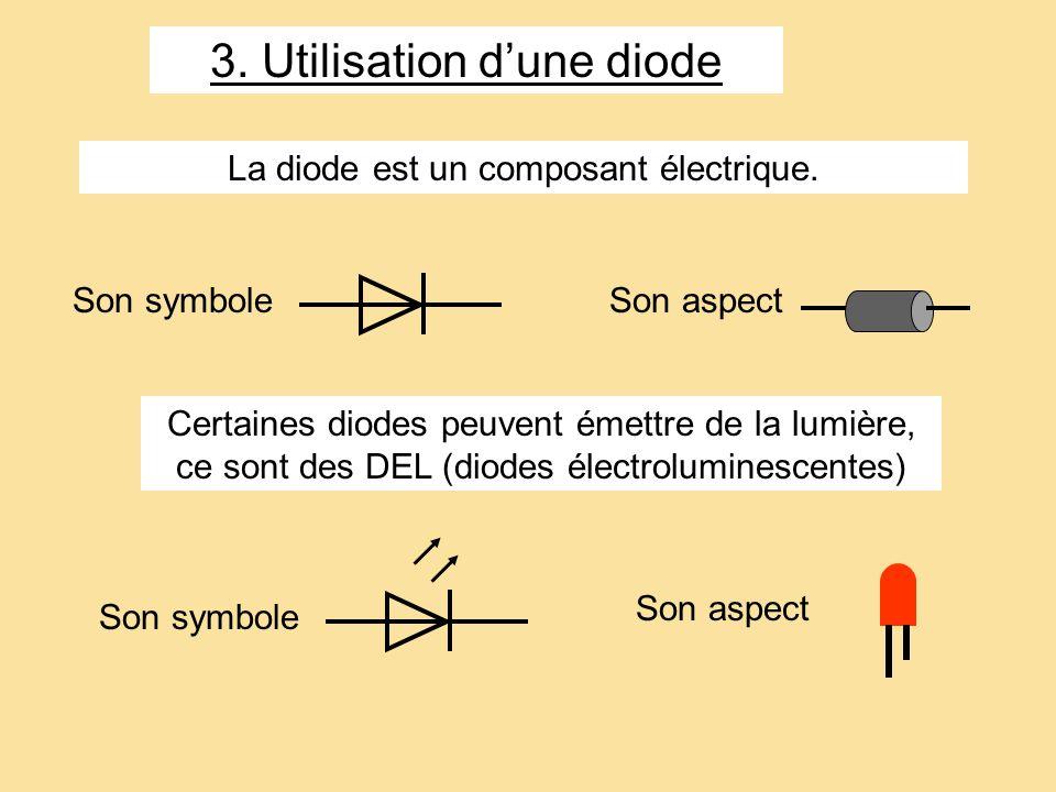3. Utilisation d'une diode