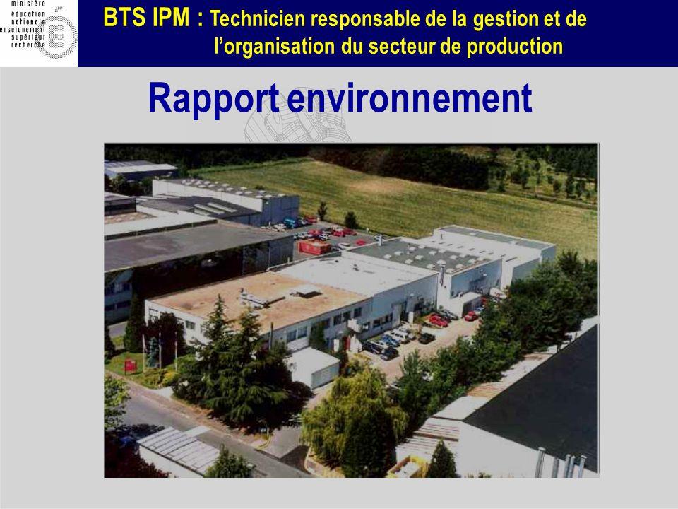 Rapport environnement