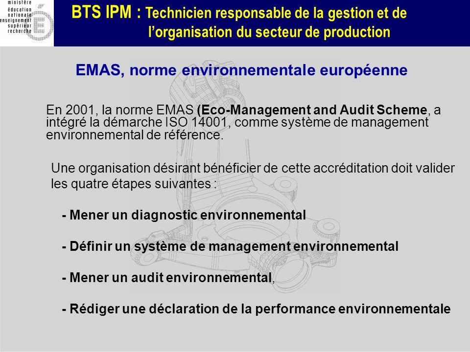 EMAS, norme environnementale européenne