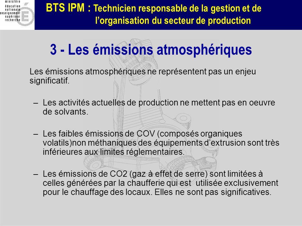 3 - Les émissions atmosphériques