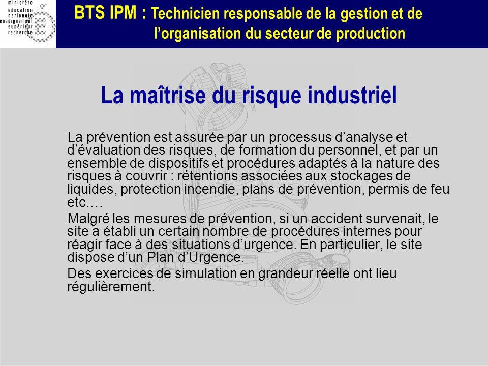 La maîtrise du risque industriel