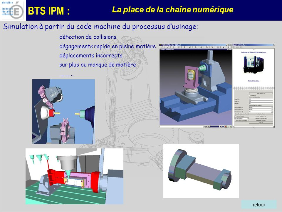 Simulation à partir du code machine du processus d'usinage: