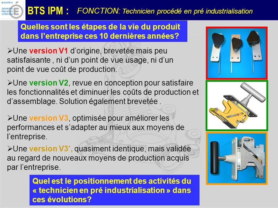 FONCTION: Technicien procédé en pré industrialisation