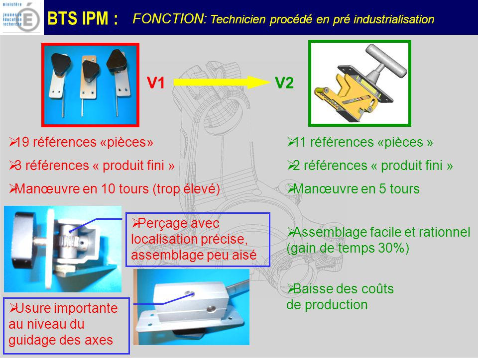 V1 V2 FONCTION: Technicien procédé en pré industrialisation