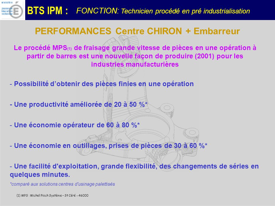 PERFORMANCES Centre CHIRON + Embarreur