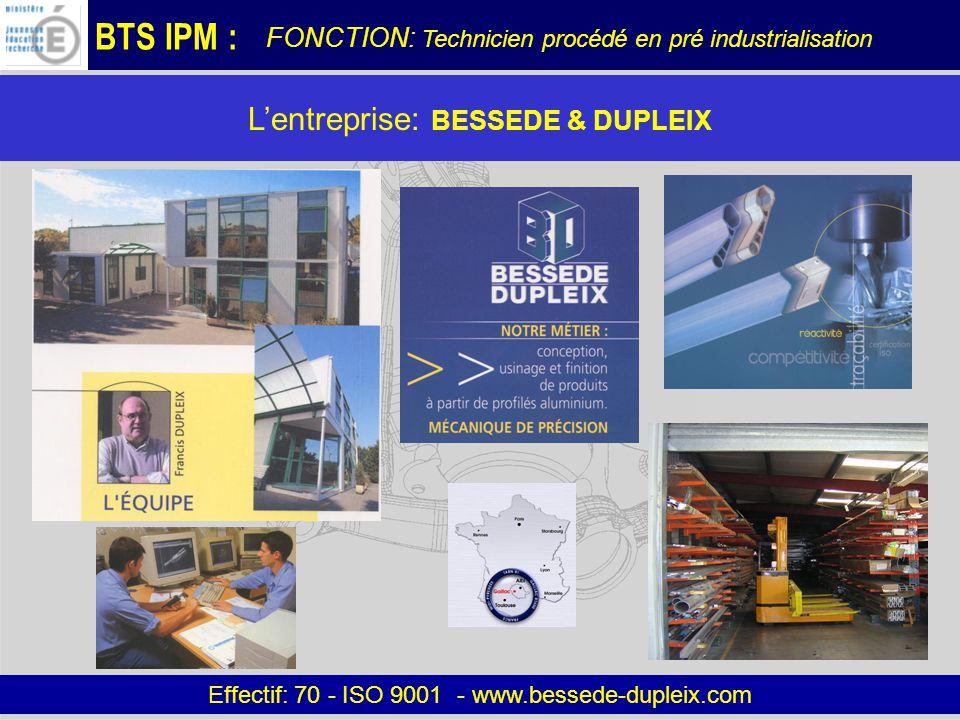 L'entreprise: BESSEDE & DUPLEIX