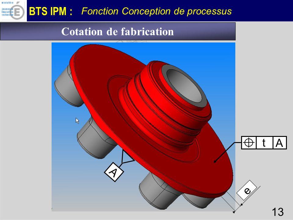 Cotation de fabrication