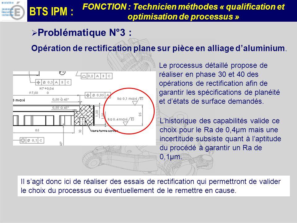 Opération de rectification plane sur pièce en alliage d'aluminium.