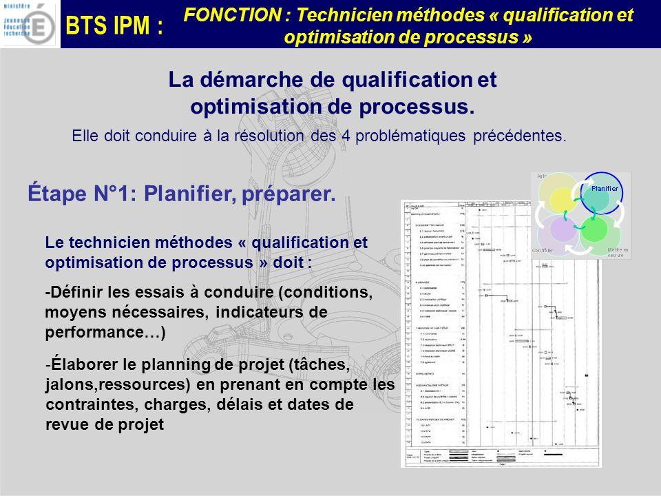 La démarche de qualification et optimisation de processus.