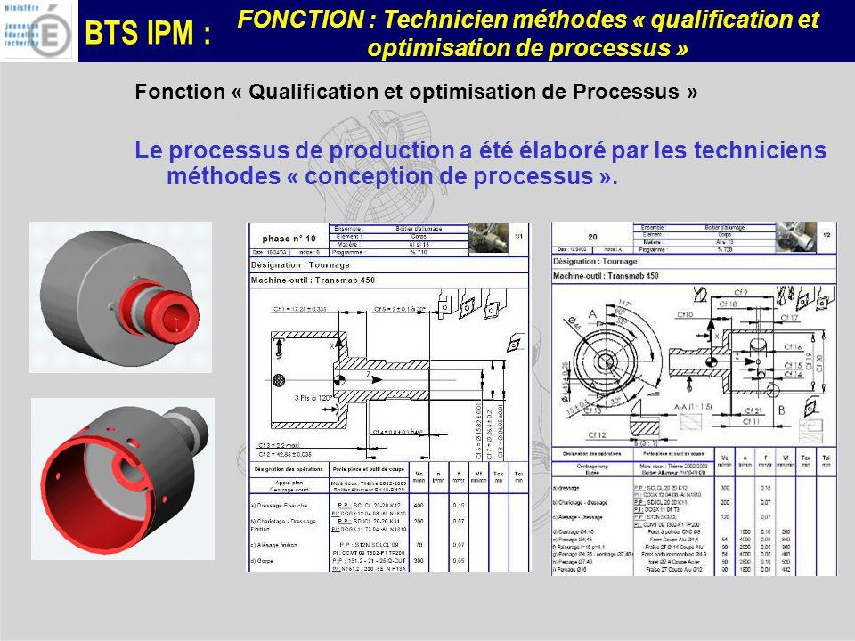 Fonction « Qualification et optimisation de Processus »