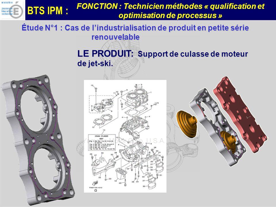 LE PRODUIT: Support de culasse de moteur de jet-ski.