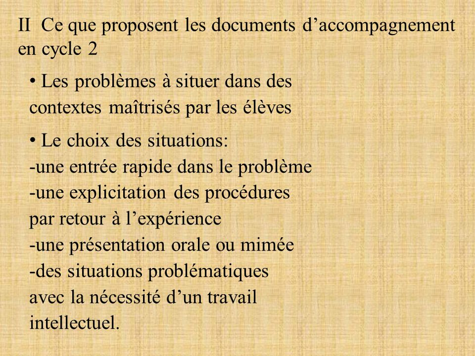 II Ce que proposent les documents d'accompagnement en cycle 2