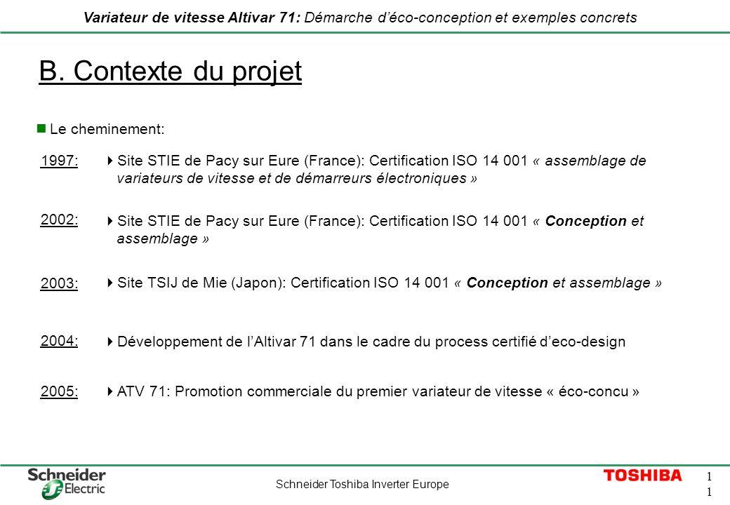B. Contexte du projet Le cheminement: 1997: