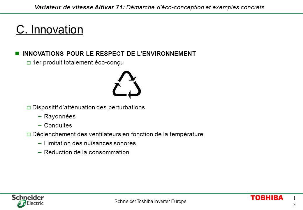 C. Innovation INNOVATIONS POUR LE RESPECT DE L'ENVIRONNEMENT