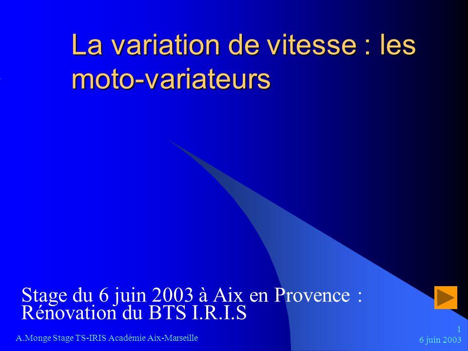 La variation de vitesse : les moto-variateurs