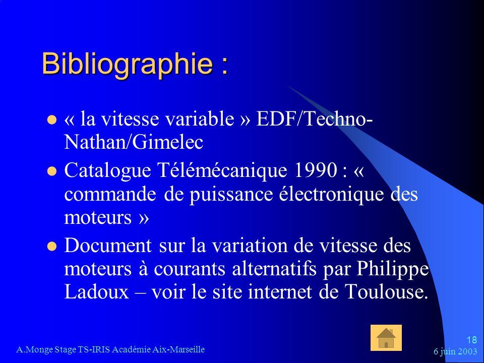 Bibliographie : « la vitesse variable » EDF/Techno-Nathan/Gimelec
