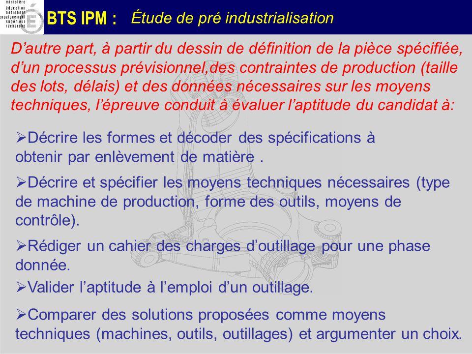 Étude de pré industrialisation