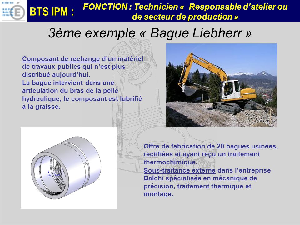 3ème exemple « Bague Liebherr »