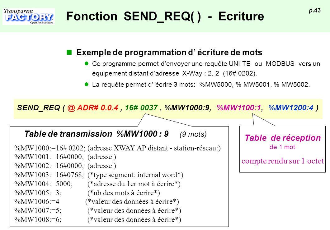 Fonction SEND_REQ( ) - Ecriture