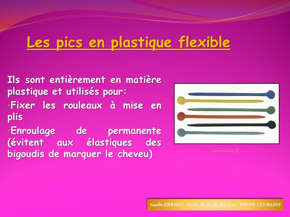 Les pics en plastique flexible