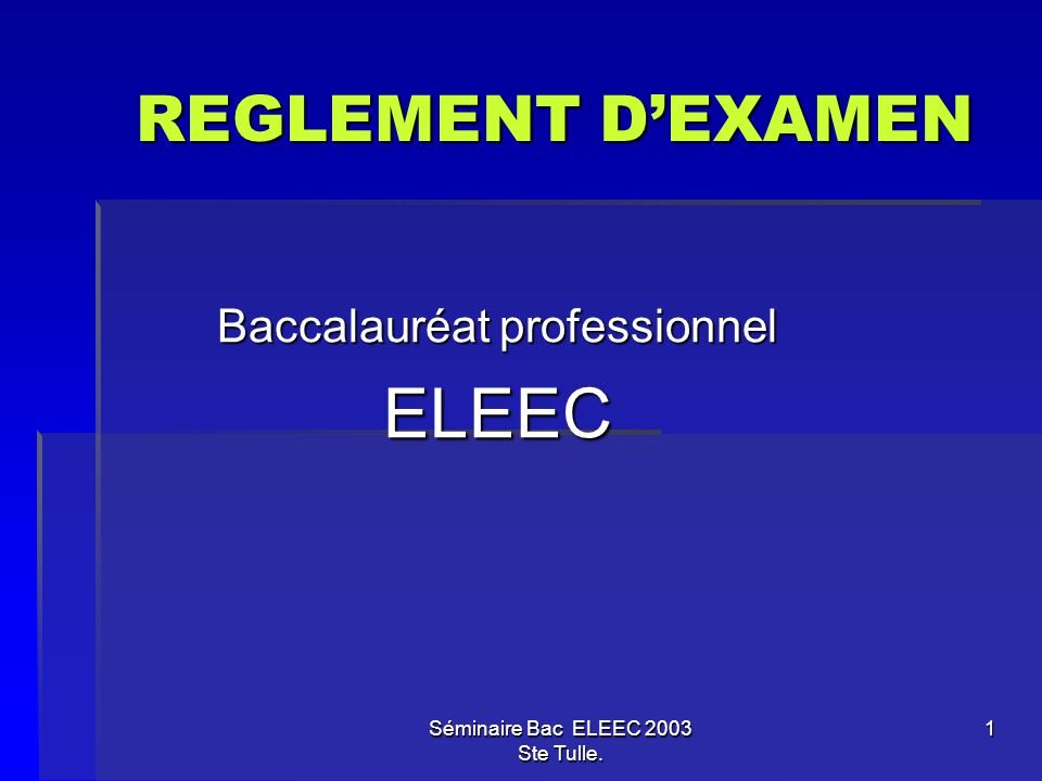 Baccalauréat professionnel ELEEC