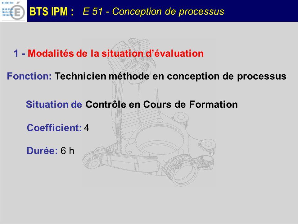 1 - Modalités de la situation d'évaluation