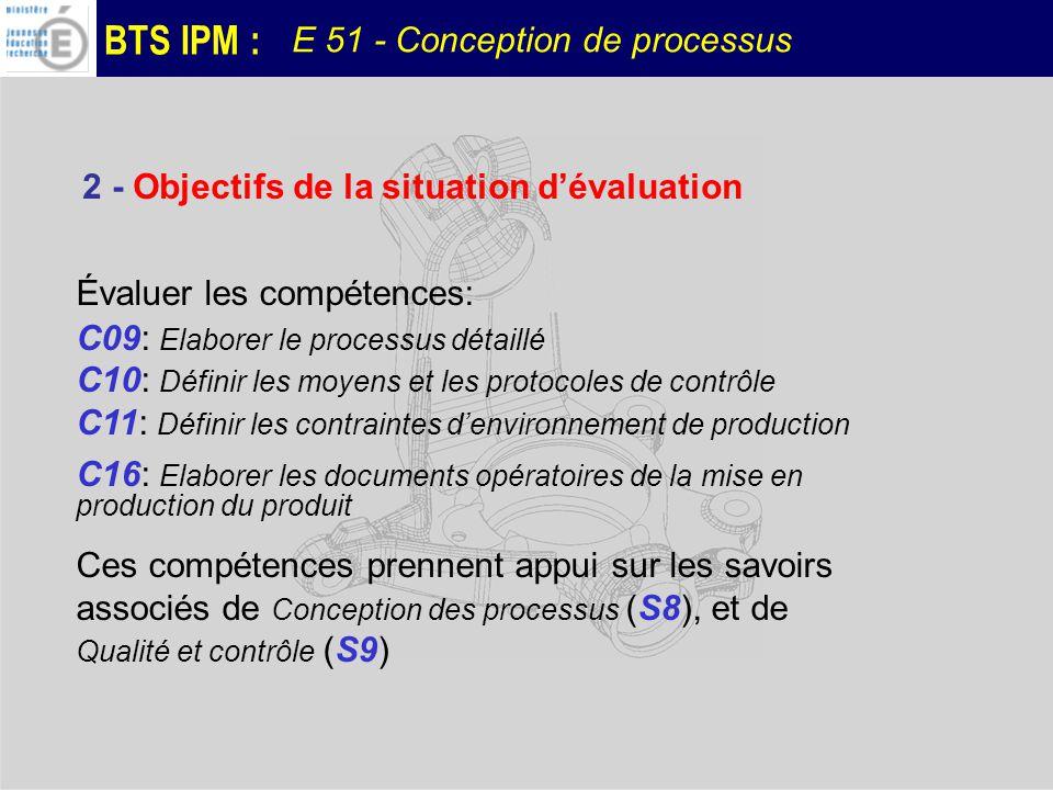2 - Objectifs de la situation d'évaluation