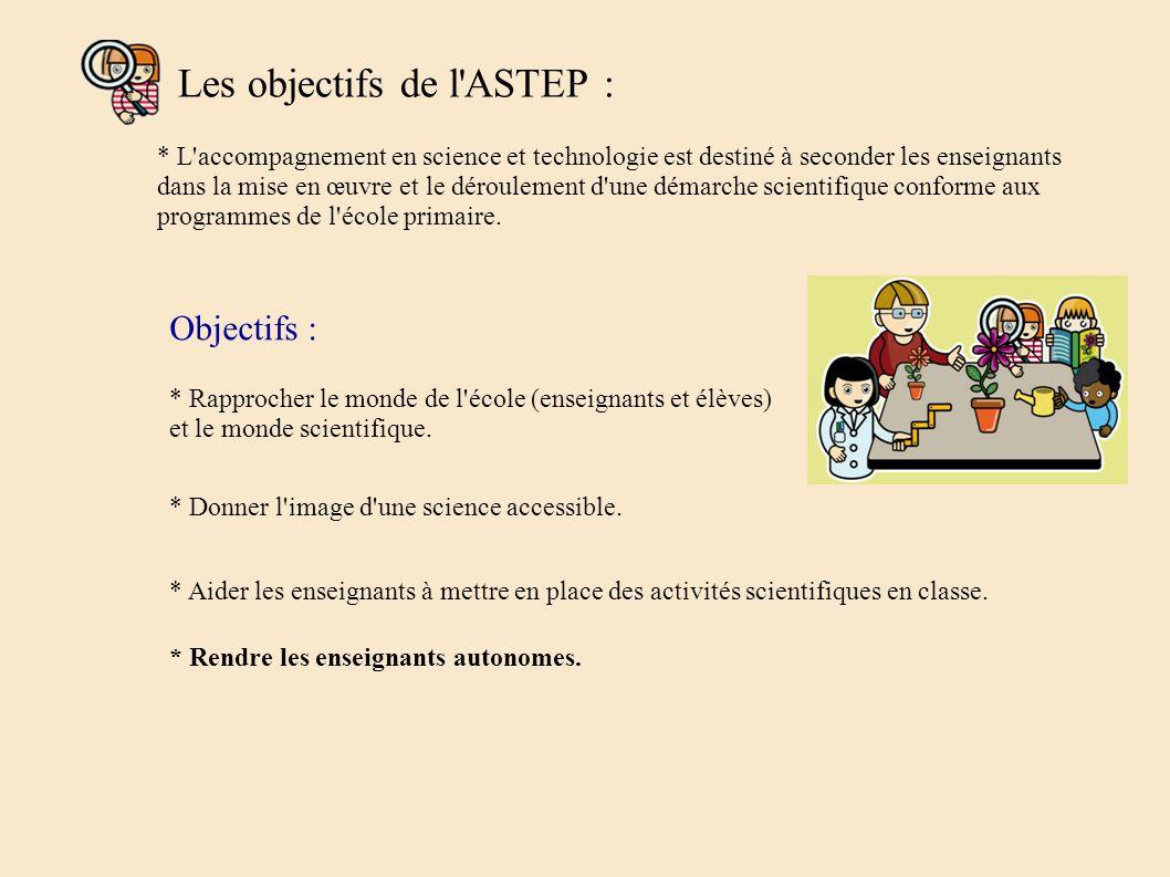 Les objectifs de l ASTEP :