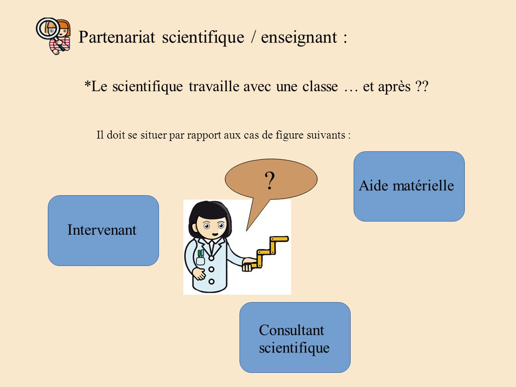 Partenariat scientifique / enseignant :