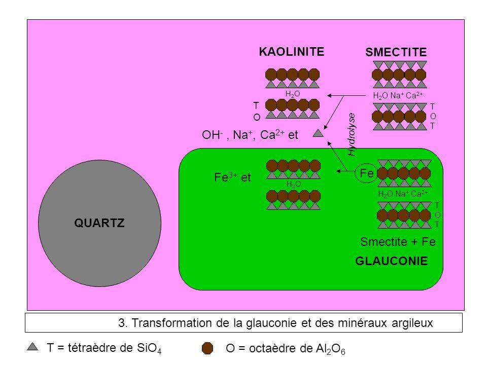 3. Transformation de la glauconie et des minéraux argileux