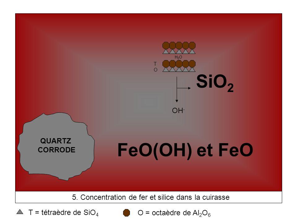 SiO2 FeO(OH) et FeO OH- QUARTZ CORRODE