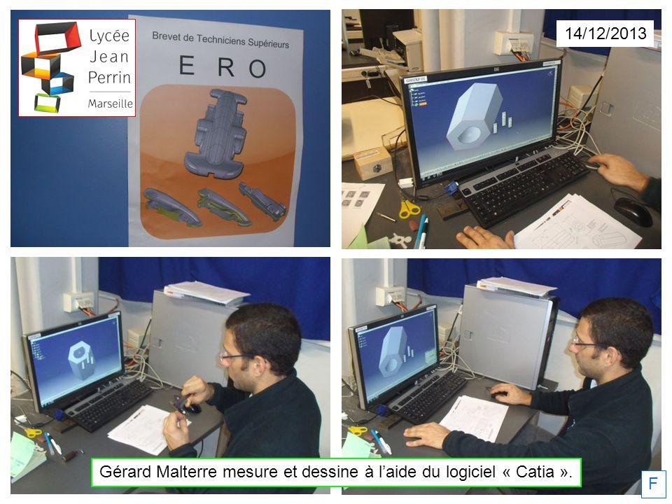 Gérard Malterre mesure et dessine à l'aide du logiciel « Catia ».