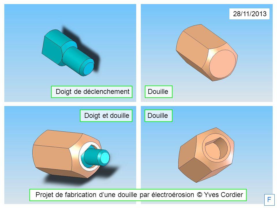 Projet de fabrication d'une douille par électroérosion © Yves Cordier