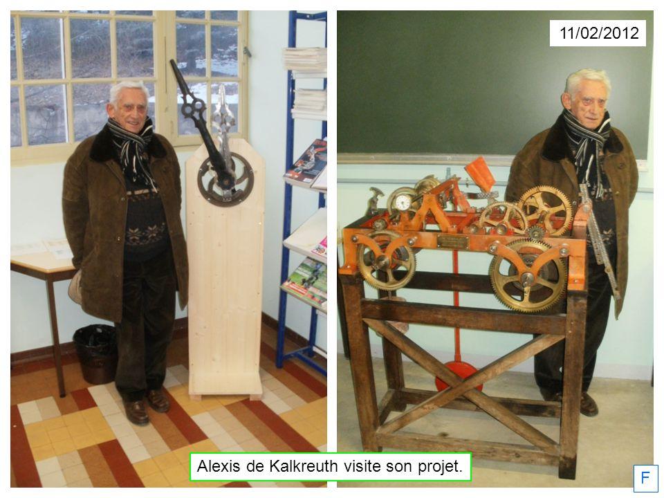Alexis de Kalkreuth visite son projet.