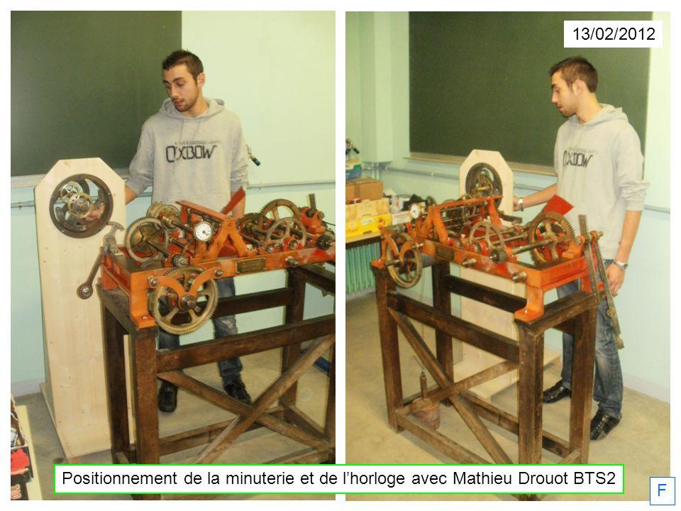 13/02/2012 Positionnement de la minuterie et de l'horloge avec Mathieu Drouot BTS2 F