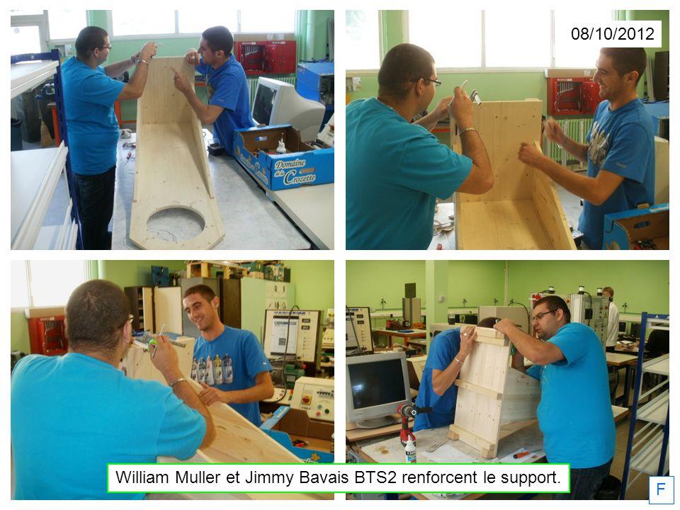 William Muller et Jimmy Bavais BTS2 renforcent le support.