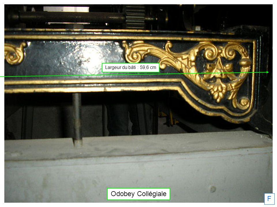Largeur du bâti : 59,6 cm Odobey Collégiale F